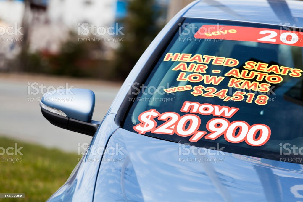 Car on Sale stock photo