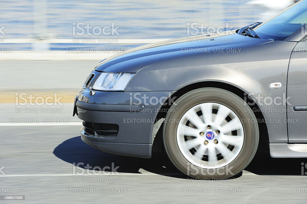 Car on the road a sunny day royalty-free stock photo