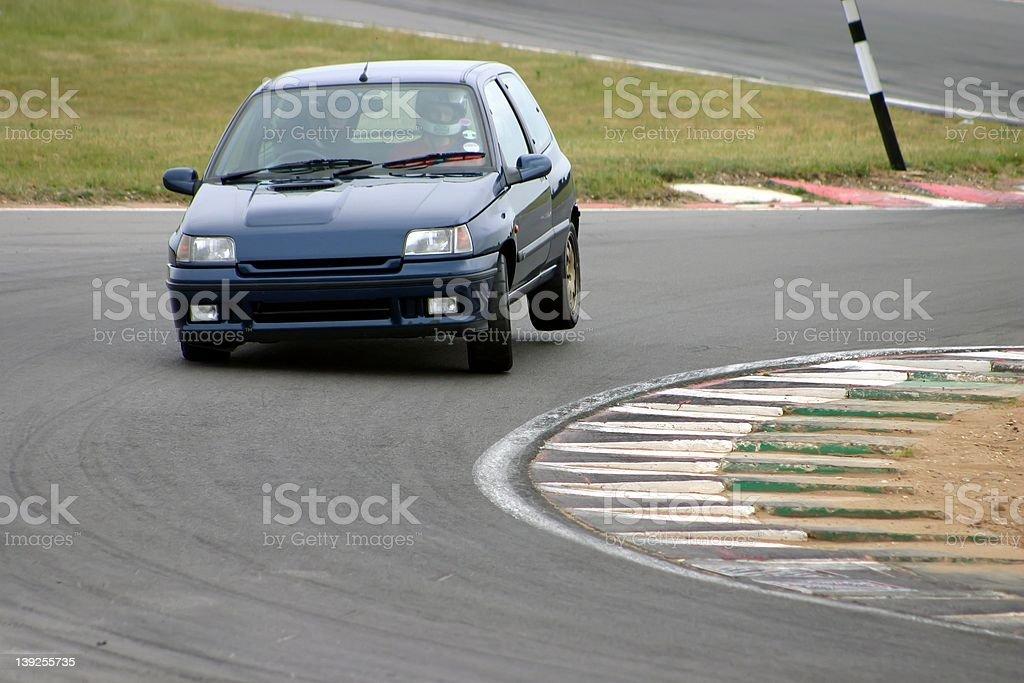 Car on three wheels royalty-free stock photo