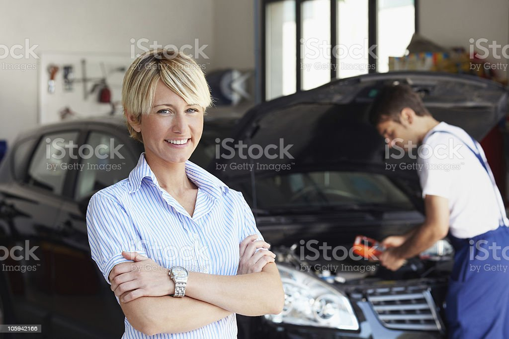 car owner stock photo