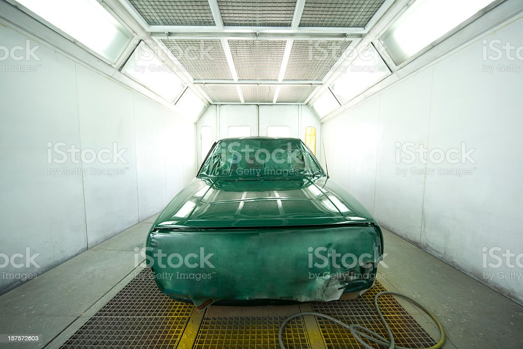 Car Paint Booth stock photo