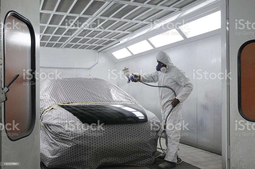 Car painting stock photo