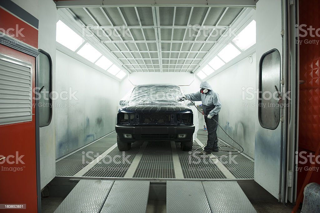 Car Painting Service royalty-free stock photo