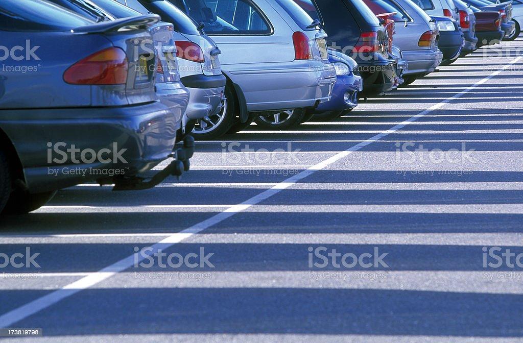Car park royalty-free stock photo