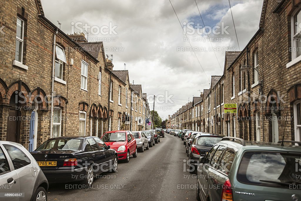 car parked along the street in York royalty-free stock photo