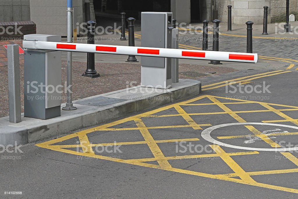 Car Parking Barrier stock photo