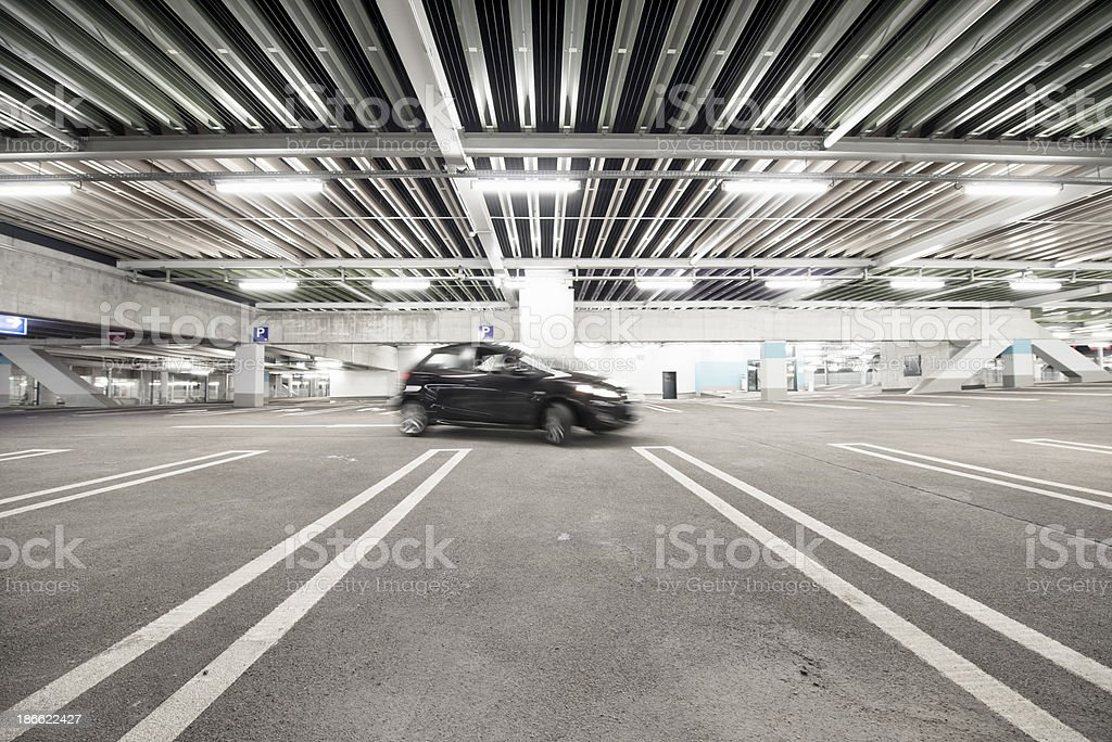 Car parking by in a  garage royalty-free stock photo