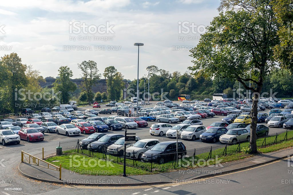 Car Parking Chester stock photo