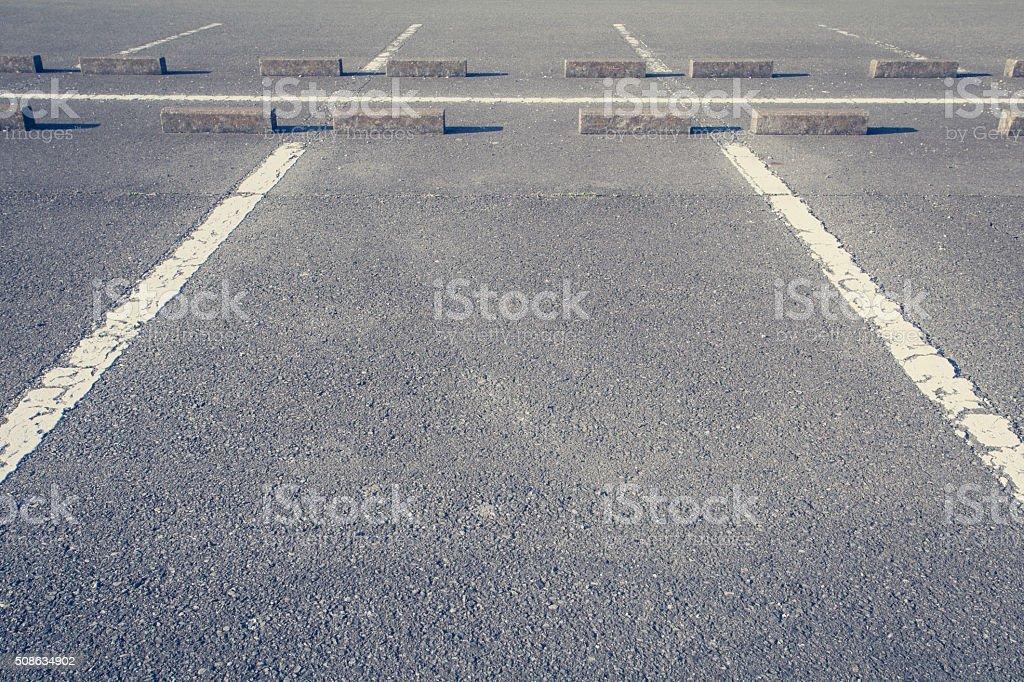 car parking Lot stock photo