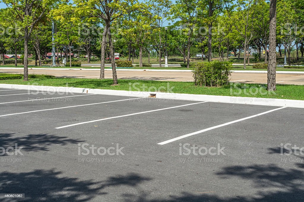 Car parking stock photo