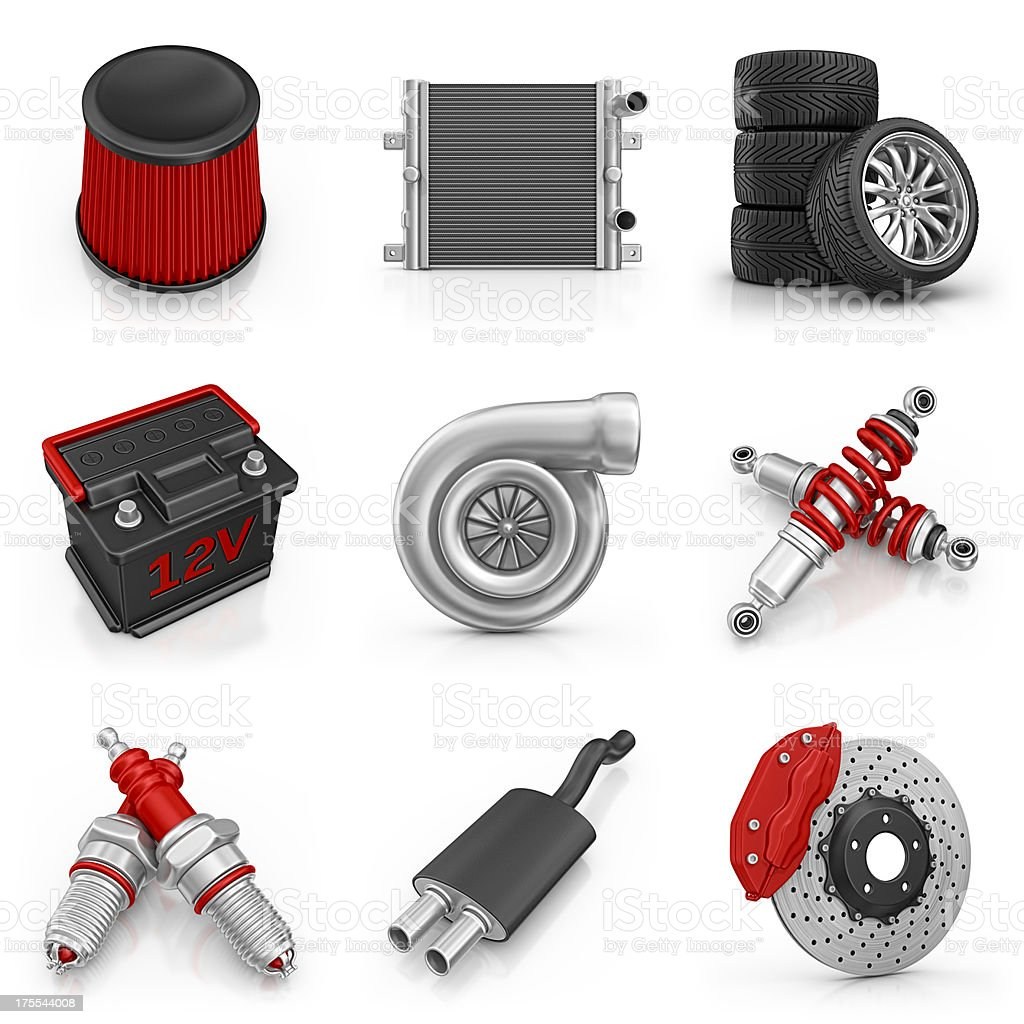 car parts icons royalty-free stock photo