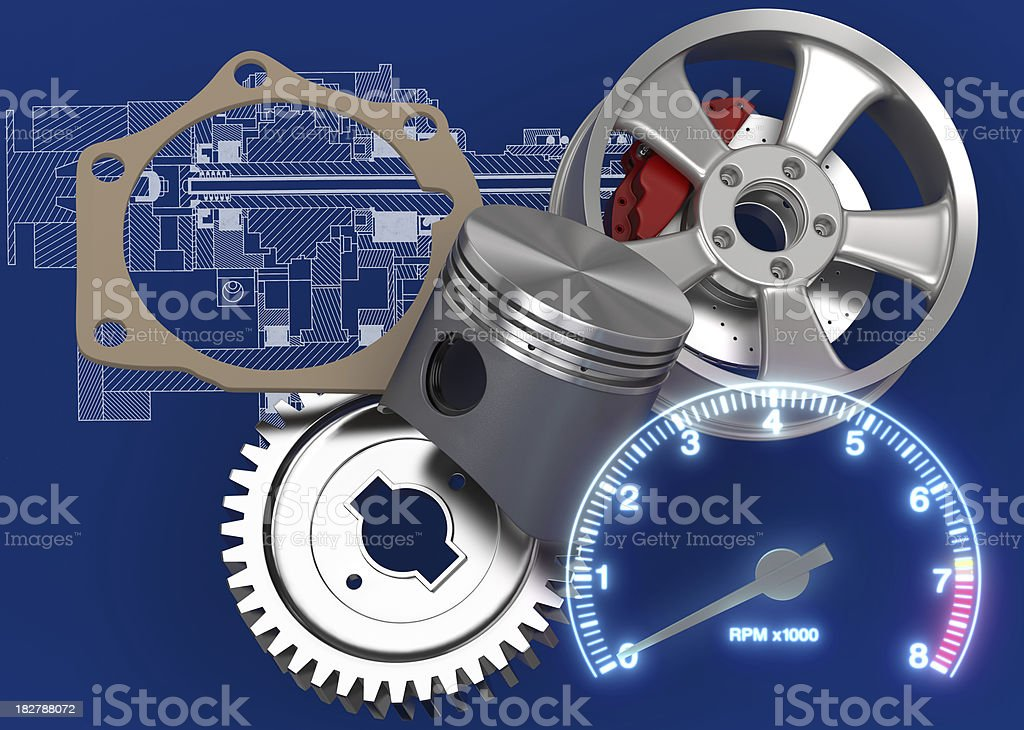 Car Parts royalty-free stock photo