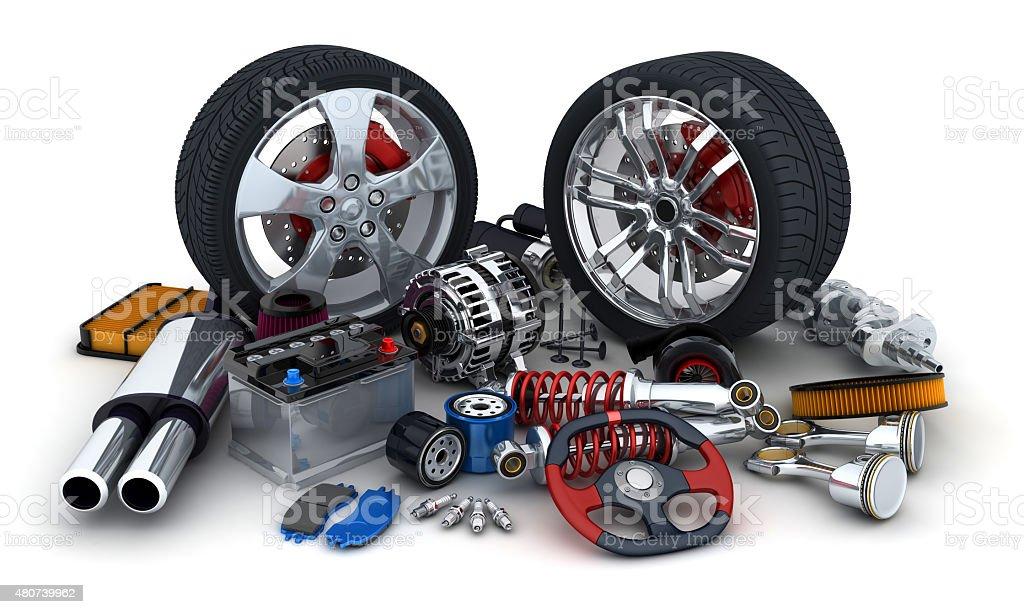Car parts stock photo
