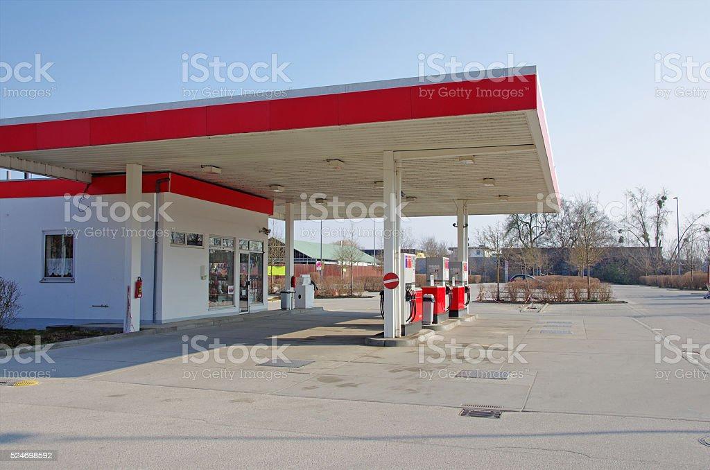 Car petrol gas station royalty-free stock photo