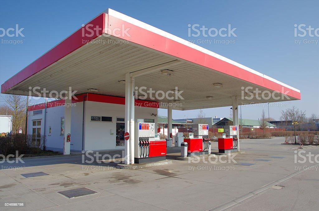 Car petrol gas station stock photo