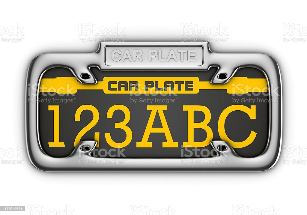 Car Plate royalty-free stock photo