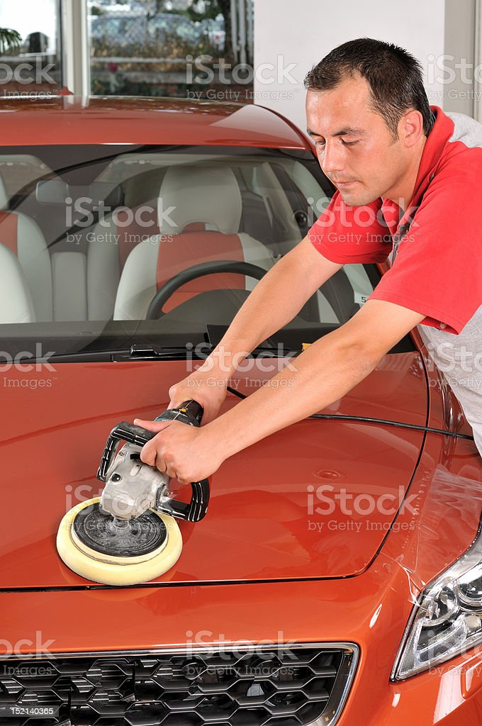 Car polish royalty-free stock photo