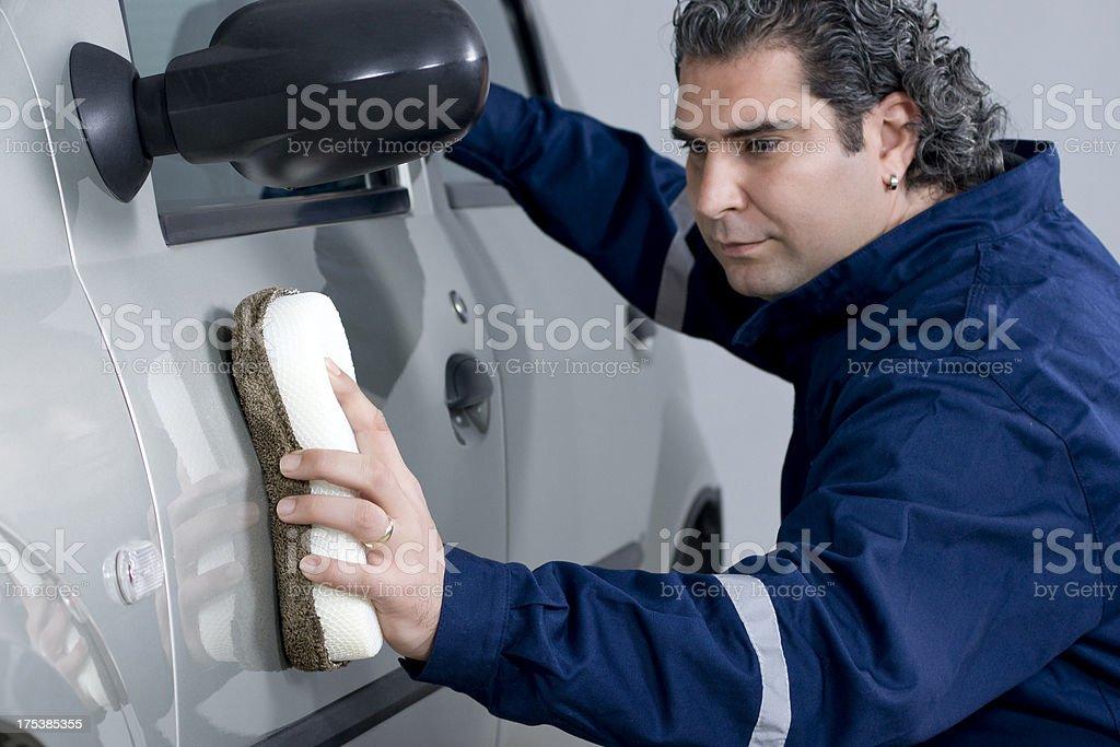 car polishing stock photo