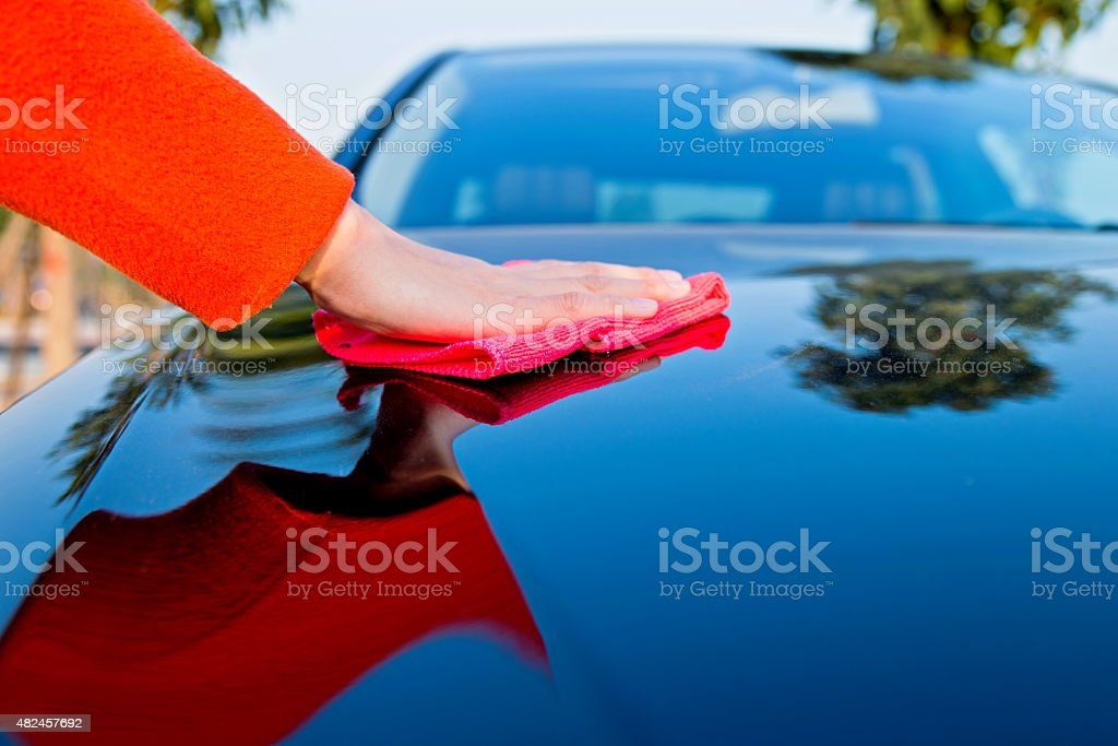 car polishing stock photo
