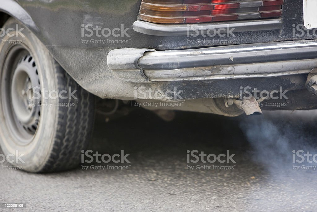 Car pollution stock photo