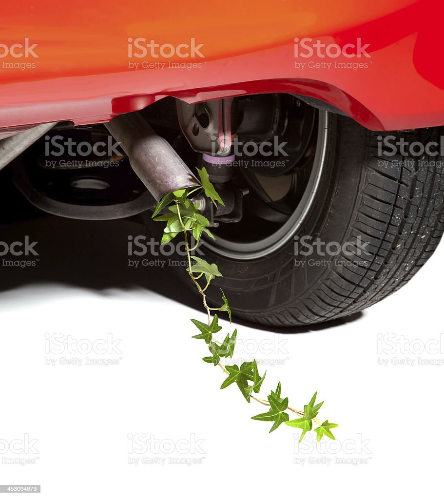 Car pollution royalty-free stock photo