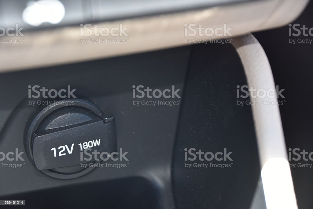 Car power outlet stock photo