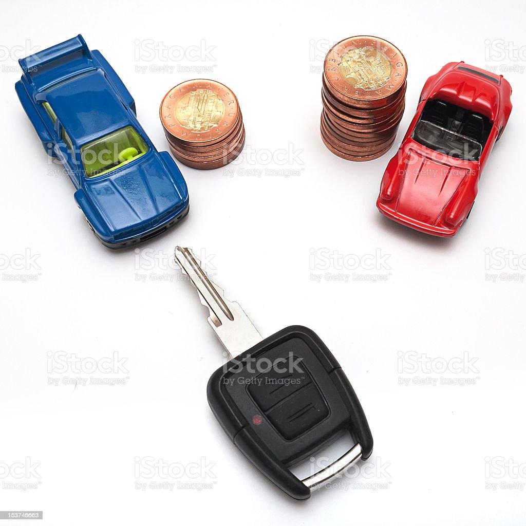 Car price stock photo