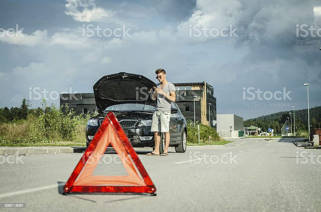 Car problem stock photo