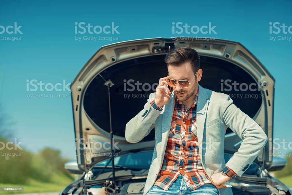 Car problem stock photo
