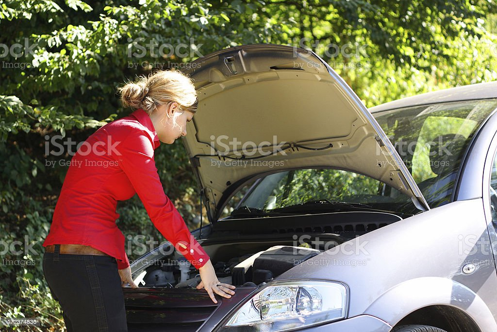 Car problems royalty-free stock photo
