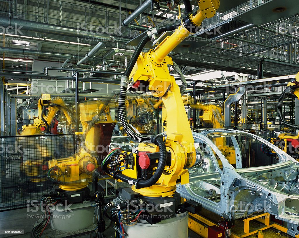 car production line royalty-free stock photo