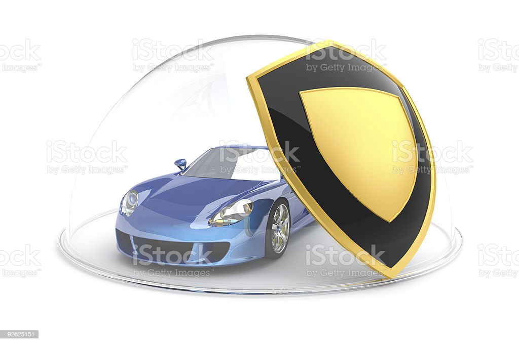 Car protection stock photo
