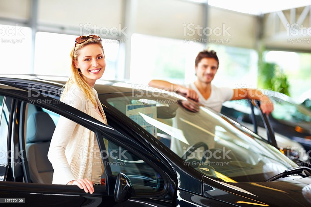 Car purchase stock photo