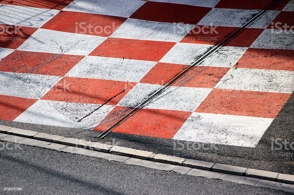 Car Race Asphalt in Monaco stock photo