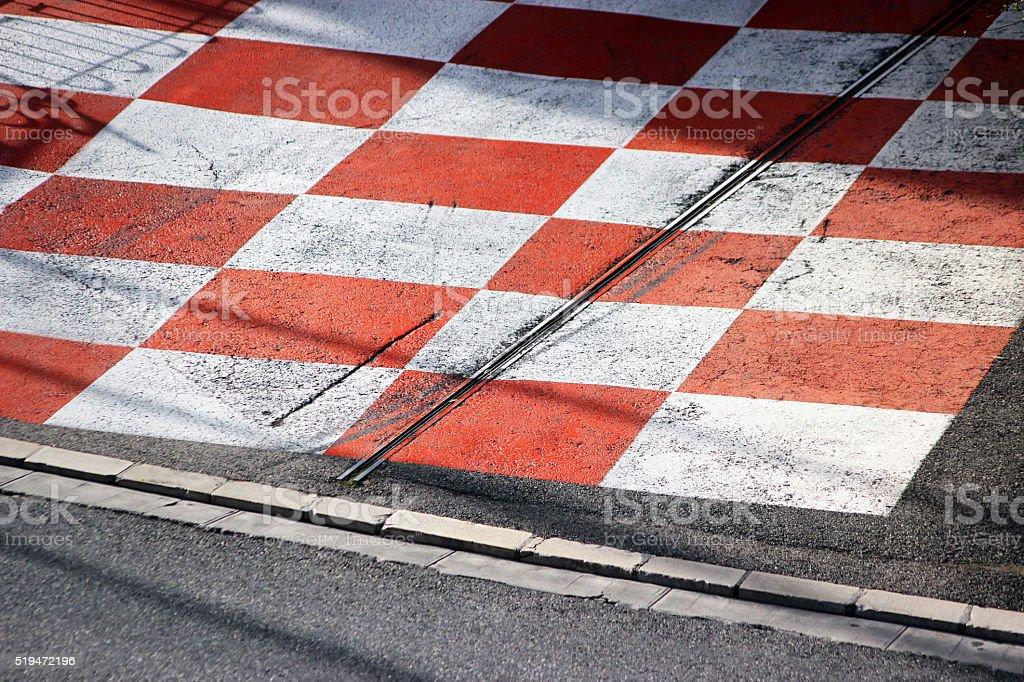 Car Race Asphalt in Monaco stock photo