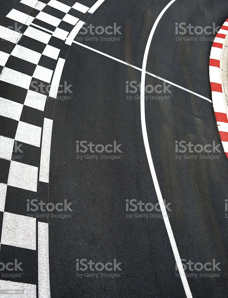 Car race asphalt on Monaco Grand Prix street circuit stock photo
