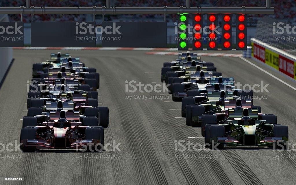 Car Race stock photo