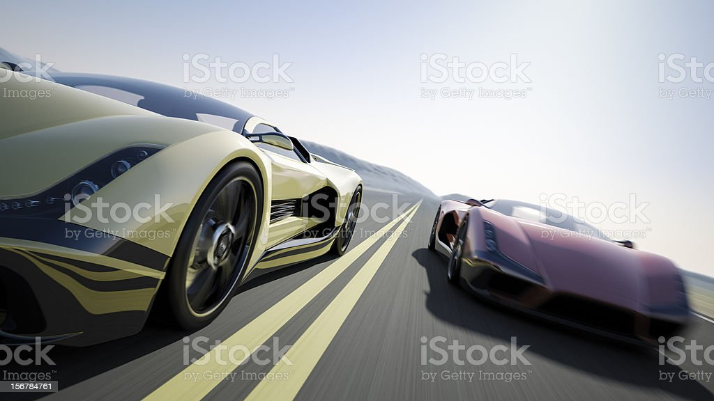 Car Race royalty-free stock photo