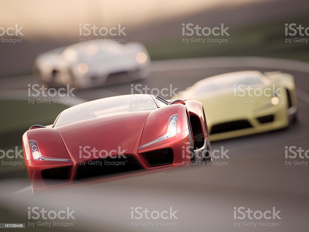 Car Race royalty-free stock photo