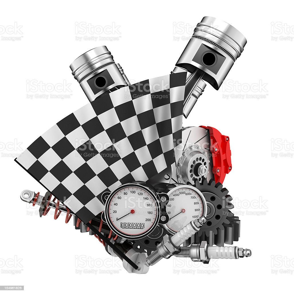 Car racing royalty-free stock photo