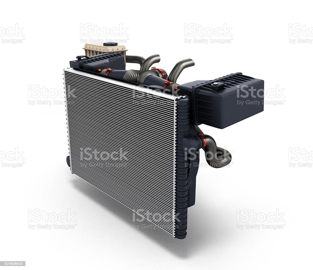 car radiator isolated on white background 3d render stock photo