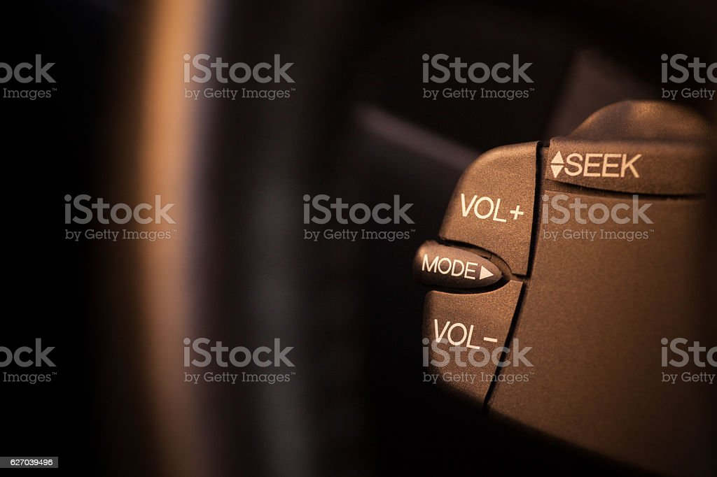 Car radio buttons stock photo