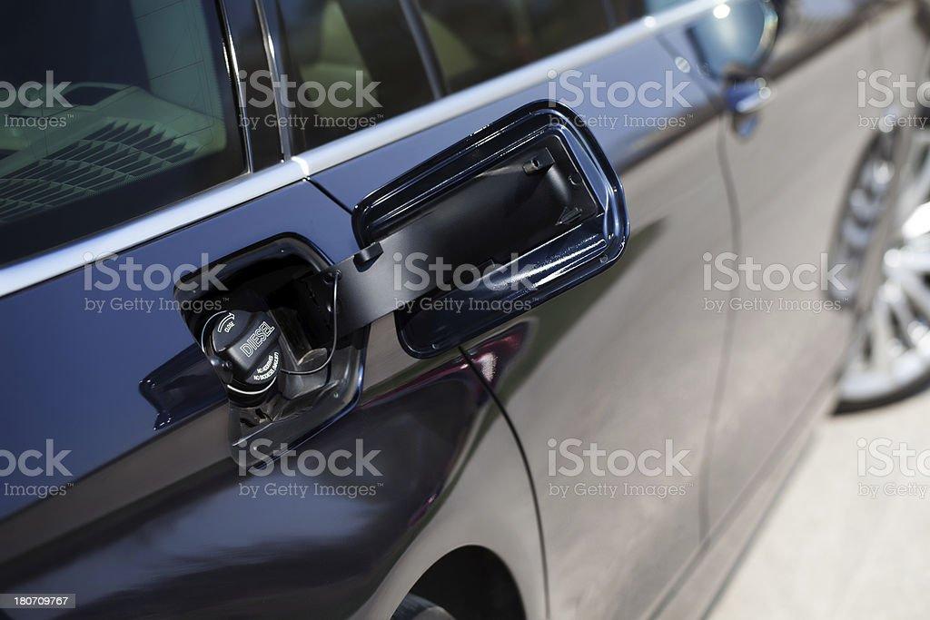 Car ready to refuel. royalty-free stock photo
