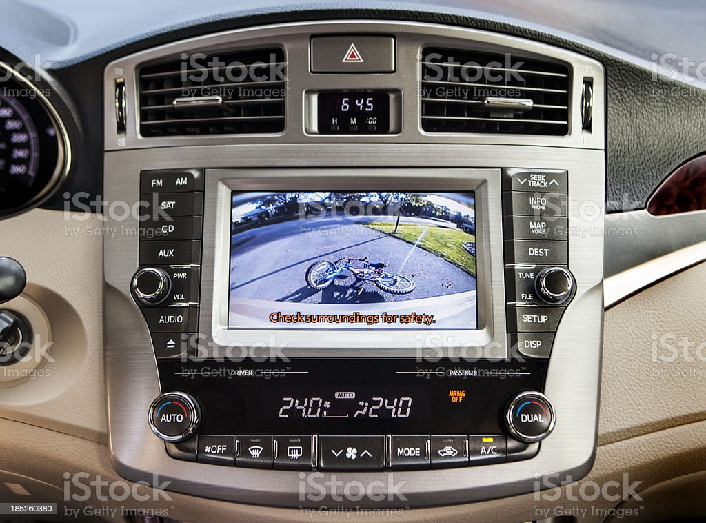 Car rear view back up camera royalty-free stock photo