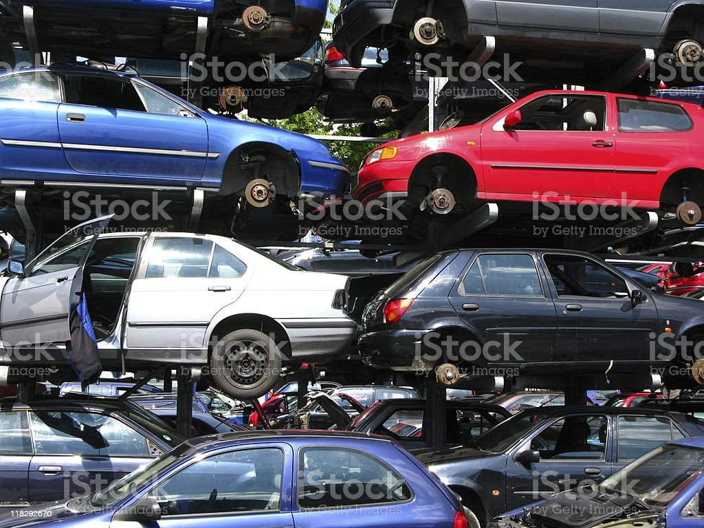 Car recycling royalty-free stock photo