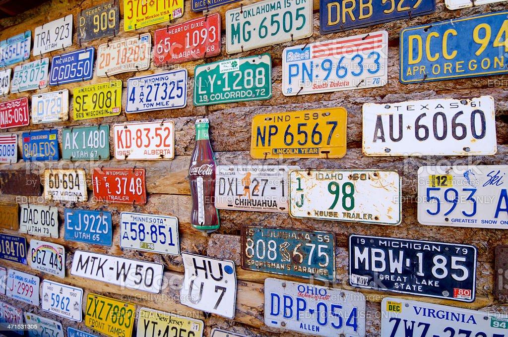 car registrations stock photo
