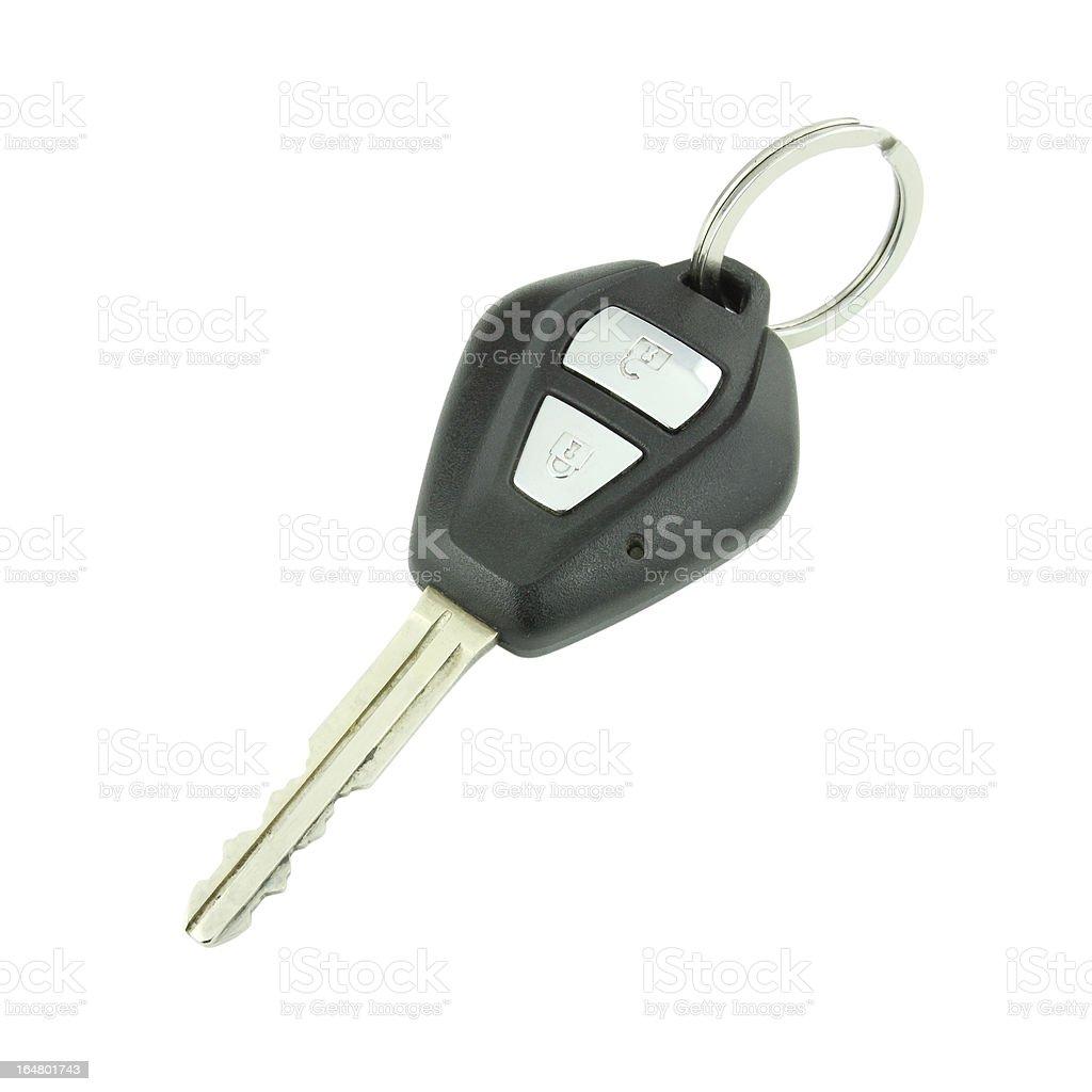 car remote key on white royalty-free stock photo