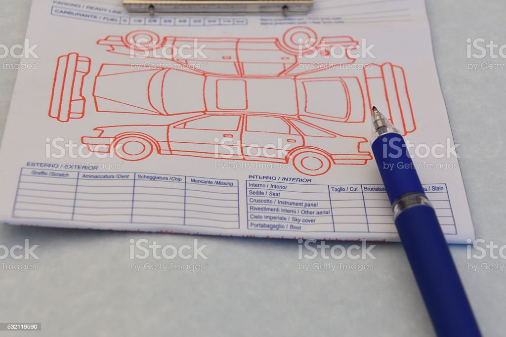 Car Rental Checklist stock photo