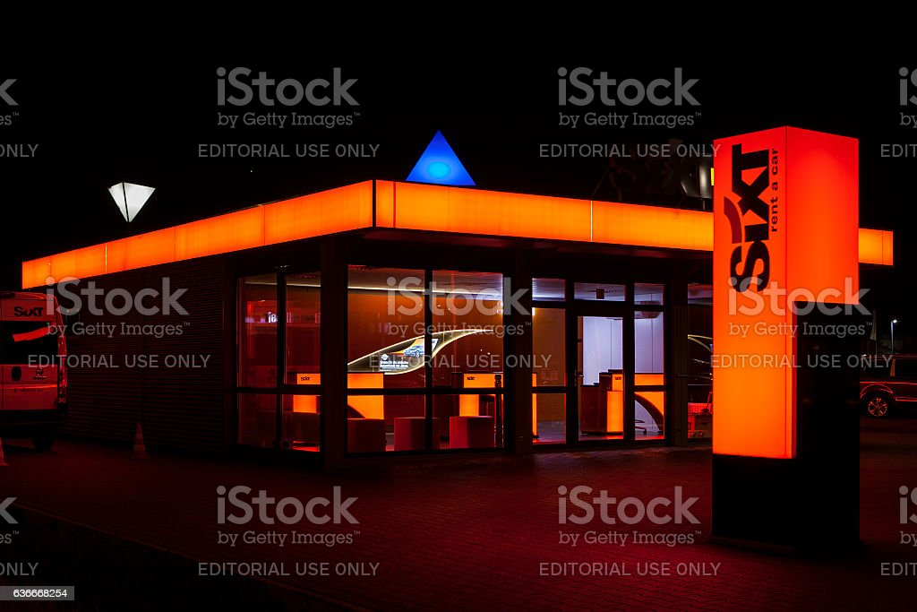 Car Rental office of SIXT stock photo