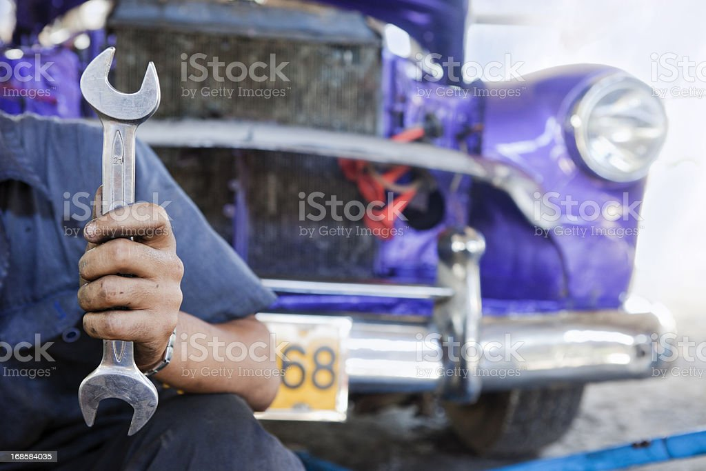 Car Repairer, Havana, Cuba stock photo